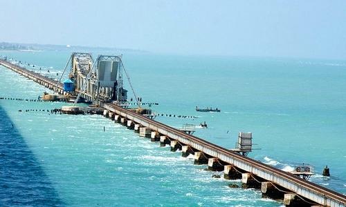 Pamban bridge in Rameswaram