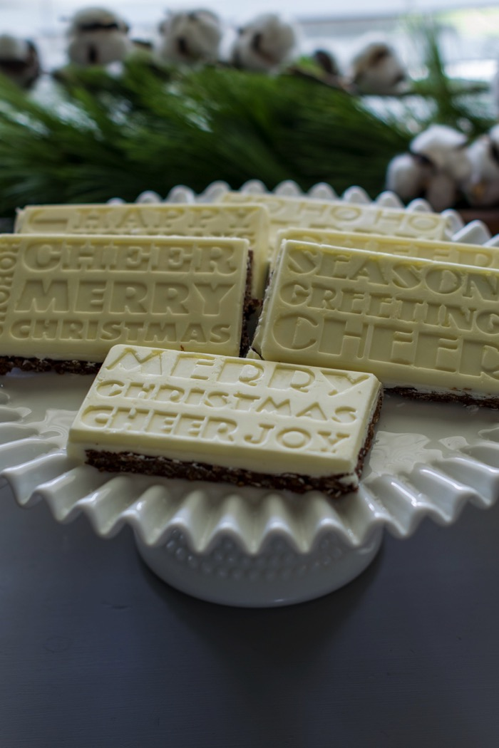 Truffle Bars with Holiday sayings