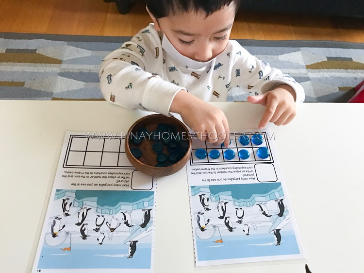 Winter Printable Counting and Writing Numbers
