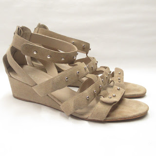 Gucci Suede Leather Wedge Sandals
