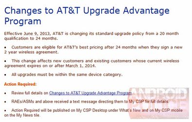 AT&T Changes Upgrade Advantage Program – Subsidized Pricing Available ...