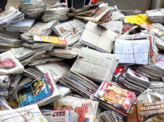 Zeitungssammeln