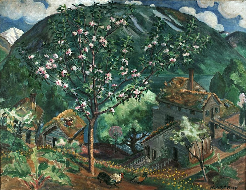 Nikolai Astrup - Apple Tree in Bloom, ca. 1927