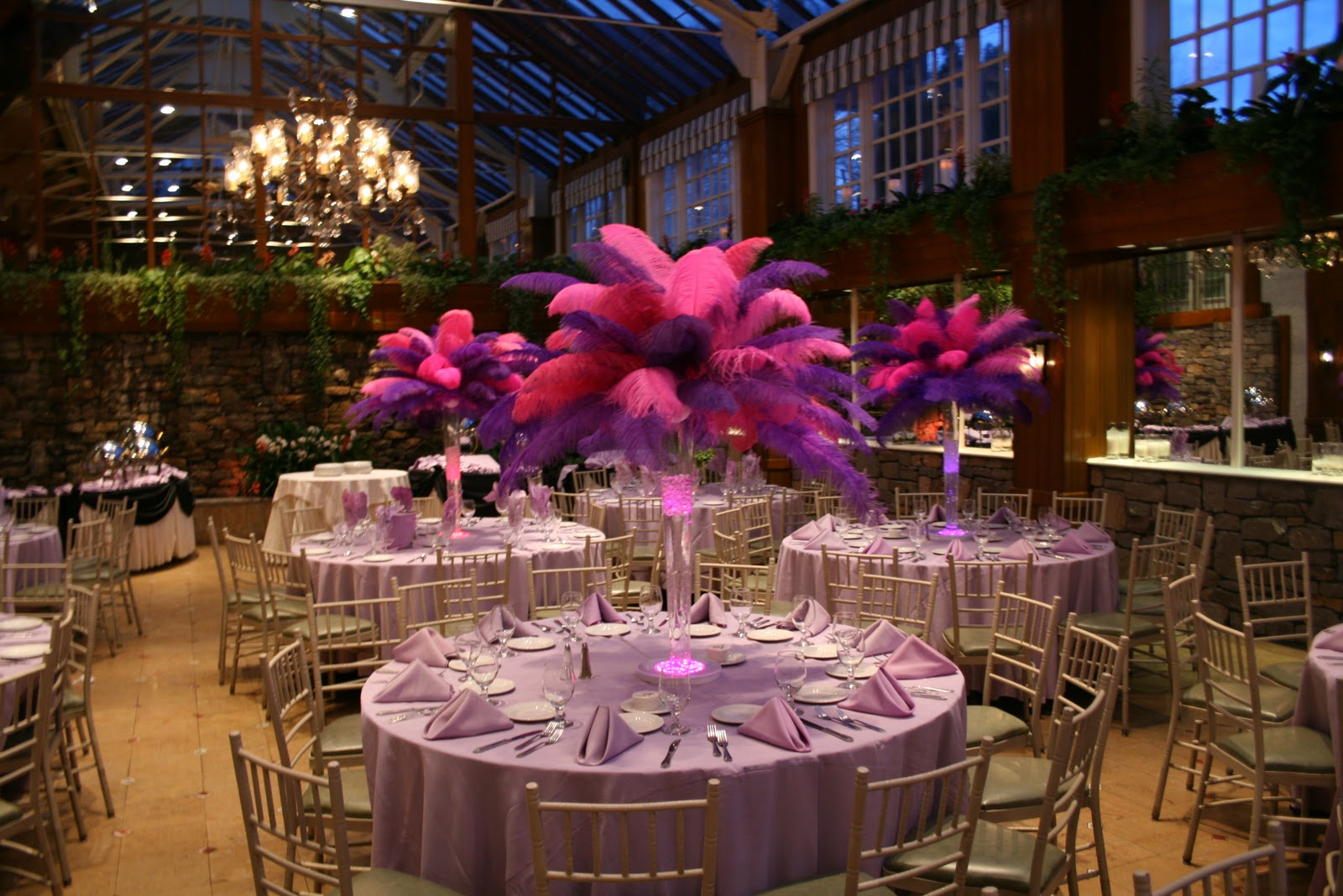 Feathercenterpieces bellmore ny wedding rental