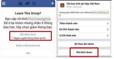 Cách thoát, xóa các nhóm đã tham gia trên Facebook