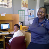 Some of my students at Mochudi Public library. Kenna in foreground