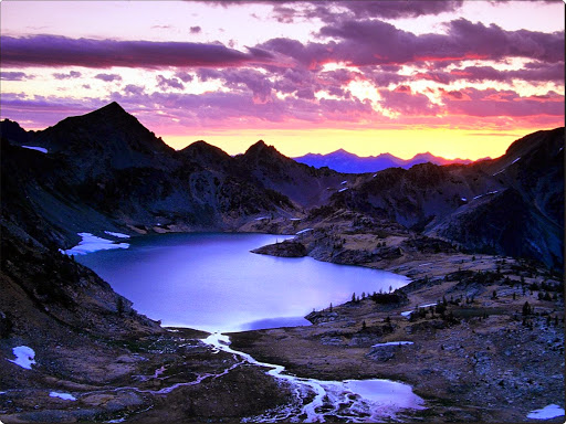 Sunrise Over Upper Ice Lake Basin, Glacier Peak, Washington.jpg