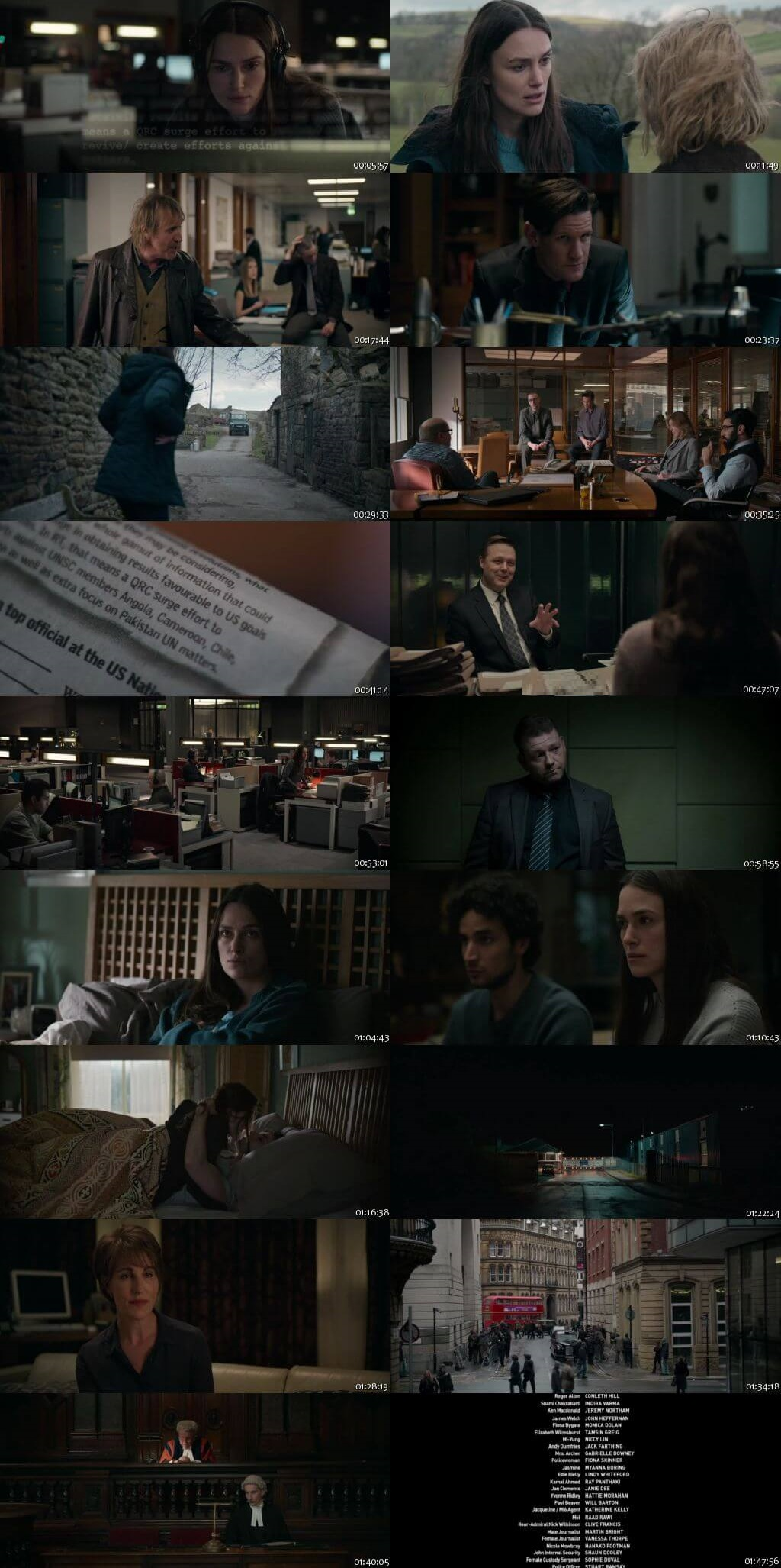 Screen Shot Of Official Secrets 2019 Full Movie Download Free Watch Online 300MB