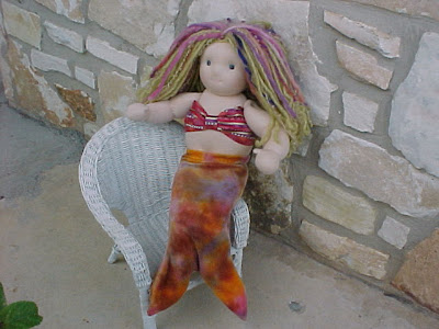 Custom Mermaid Outfit for Your Waldorf Doll, Choose Colors and Size