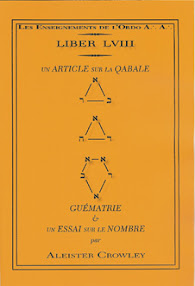 Cover of Aleister Crowley's Book Liber 058 Qabalah Or An Essay Upon Number