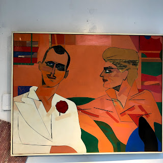 Richard Merkin Signed Painting