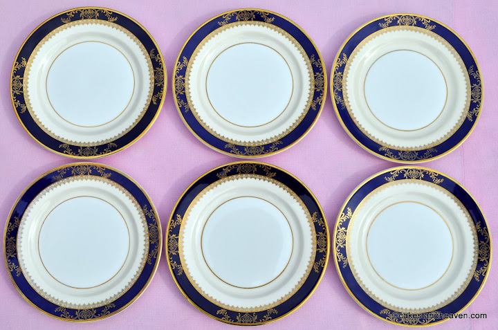 Viceroy pattern 6 x 17cm cake or sandwich plates