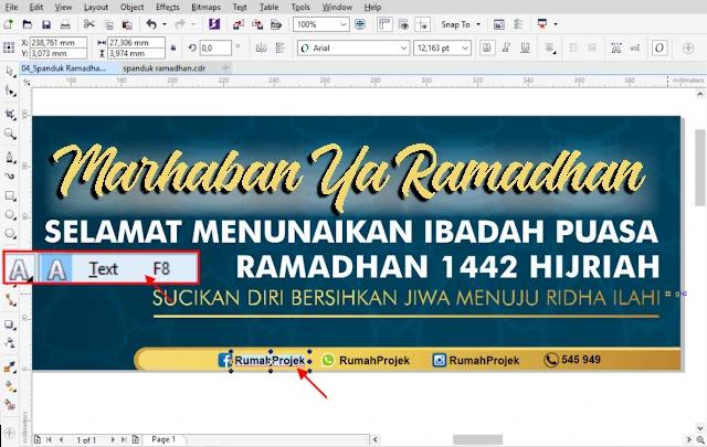 Download Template Desain Spanduk Ramadhan CDR Gratis