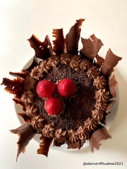 Torte mit Mascarpone und Schokolade