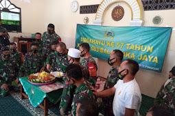 Keluarga Besar Kodim O819 Pasuruan Peringati HUT Ke-57 Korem 083 Baladhika Jaya Dengan Sederhana