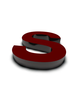 lettre 3D rouge de Chine - S - images libres de droit