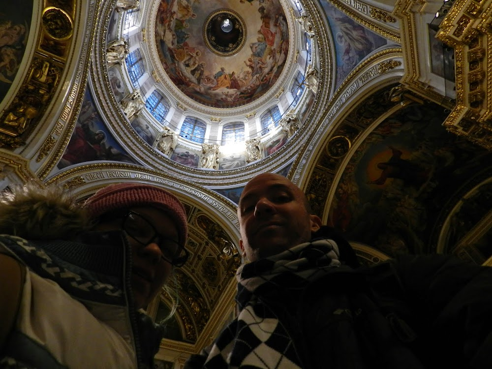 under the dome of St. Isaac's!
