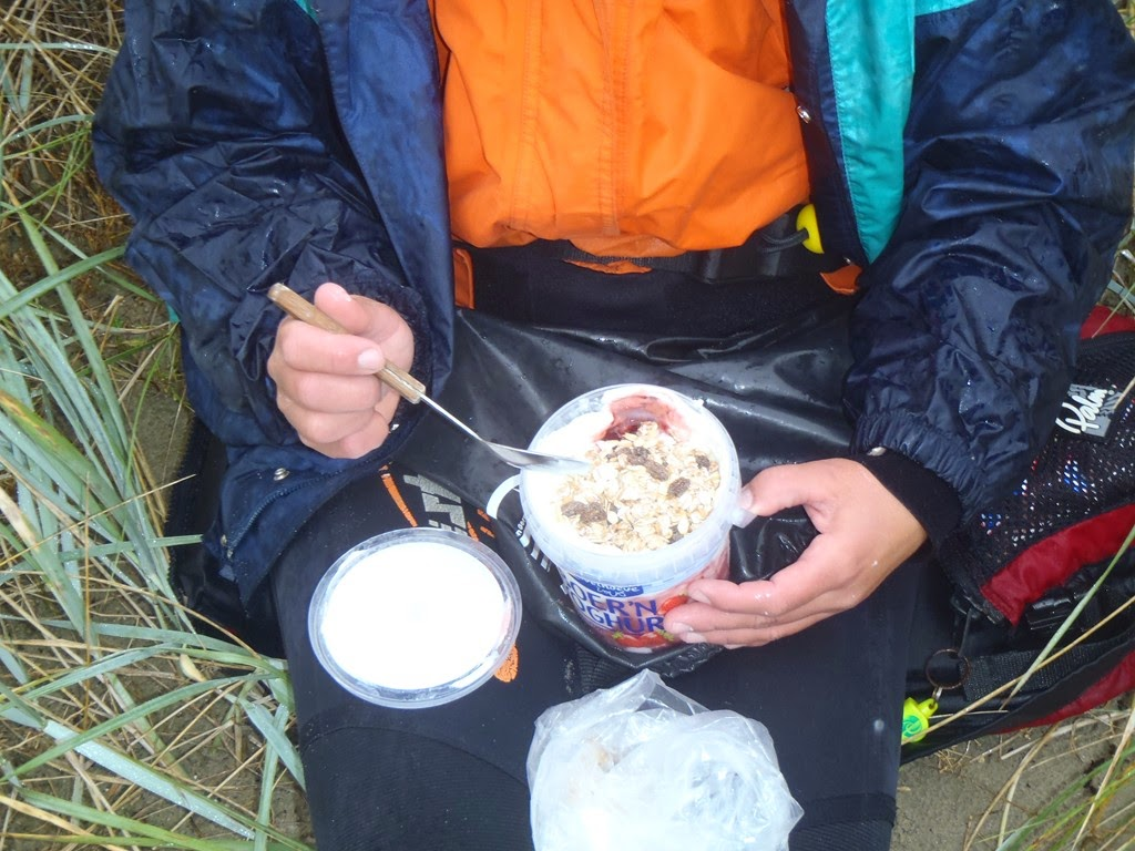 En yoghurt met muesli