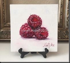 Raspberries easel