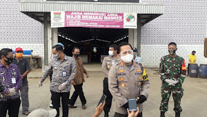 Kapolres Kota Tangerang, Pengecekan Gugus Tugas Covid-19 diwilayah Kelurahan Mauk Timur