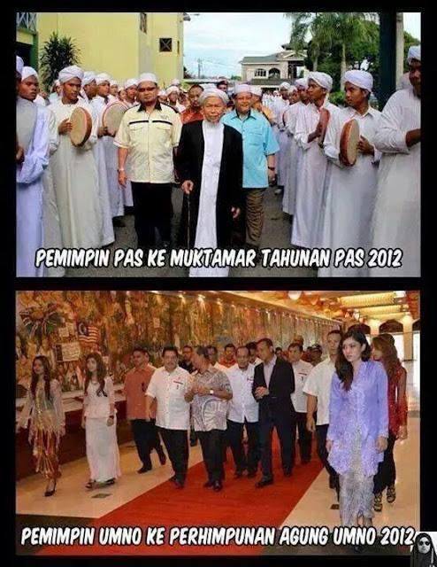 Beza Persidangan Umno Dengan Muktamar PAS