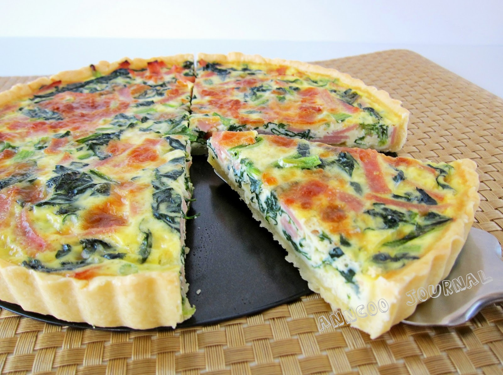 Ham & Spinach Quiche - Anncoo Journal