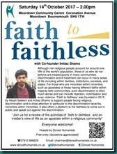Faith to Faithless 14 October 2017