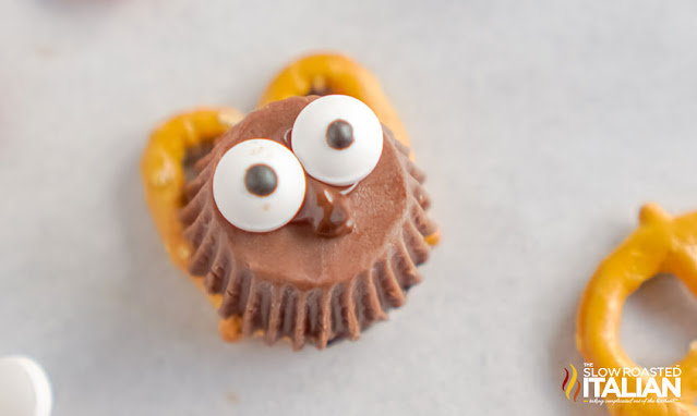 eye balls added onto treat