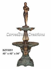 Bronze, Fountain, Lady, Statue