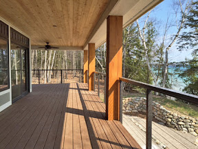 bronze aluminum deck cable railing idea