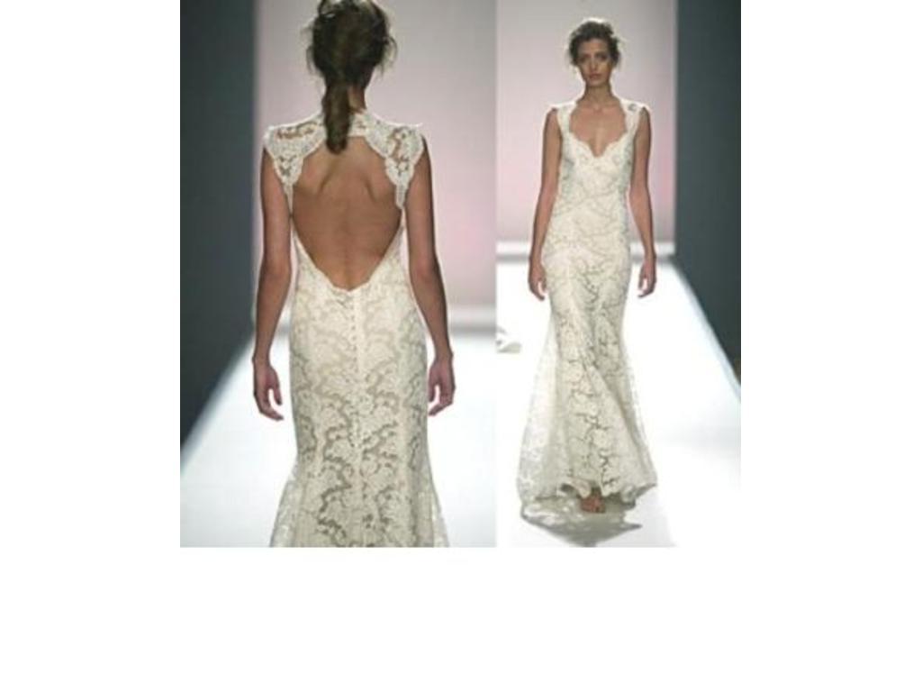 Paulettes blog Monique Lhuillier Scarlet Size 10 Used Wedding Dresses