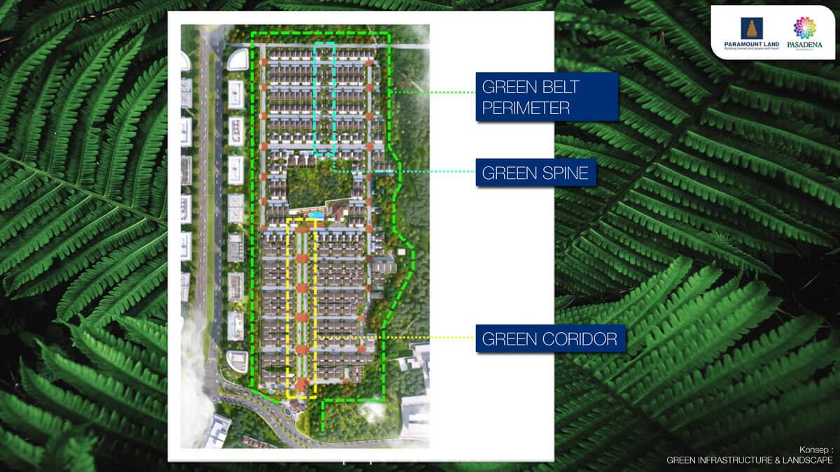 Cluster Pasadena Residence Serpong - Green Infrastructure