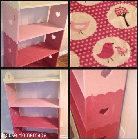 Girls book shelf Chalk Painted