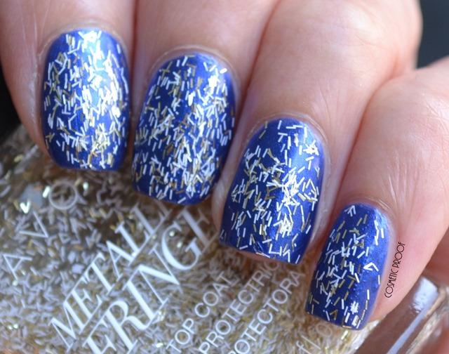 Avon Metallic Fringe Top Coat Fringed and Frayed Review Swatch (1)