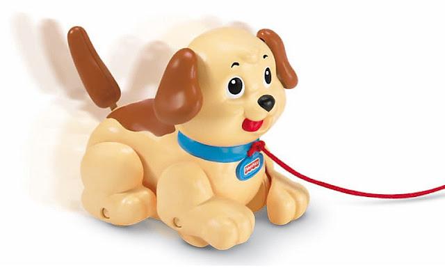 Xe kéo con chó Fisher-Price Lil' Snoopy Pull Along Dog H9447 không sử dụng pin