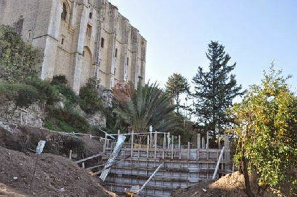 Gothic Abbey in Northern Cyprus falling apart