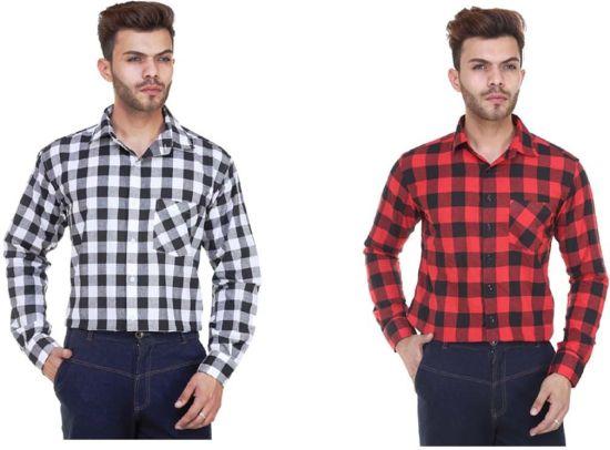Flipkart Loot Deal - Zarkons Mens Checkered Shirts Pack of 2 at Just Rs.254