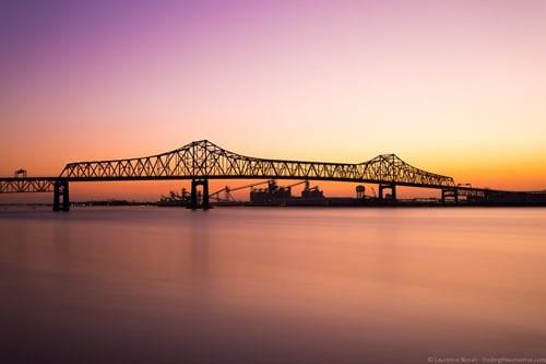 Baton Rouge Bridge at dusk
