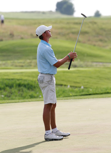Sam Foust Edina Minn. reacts to his putt at the 9th green during sectional qualifying for the U.S. Amateur Ch&ionship July 13 at Dacotah Ridge GC ... : us amateur sectional qualifying - Sectionals, Sofas & Couches