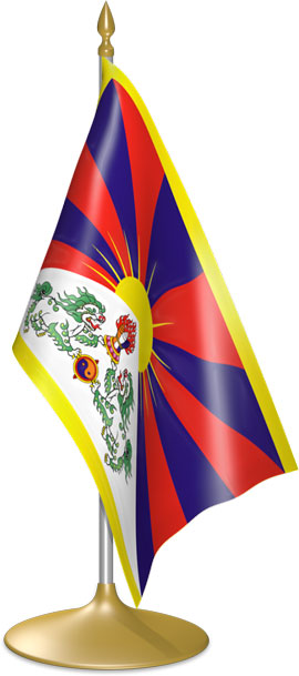 Tibetan table flags - desk flags