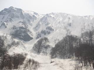 別山、別山沢、八合沢、七合沢と夏道稜線