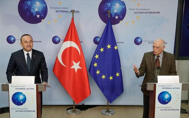 «Θετικό κλίμα» στις σχέσεις ΕΕ-Τουρκίας βλέπουν Μπορέλ και Τσαβούσογλου