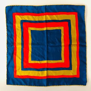 *SALE* Dumont Blue/Red/Gold Handkerchief