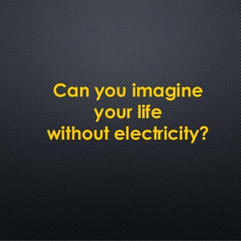 Apa jadi bila dunia tanpa elektrik , satu hari nanti ?