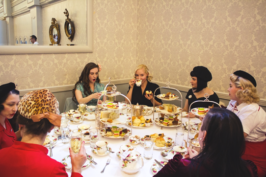 QVB High Tea with Vintage Ladies, 2016 | Lavender & Twill