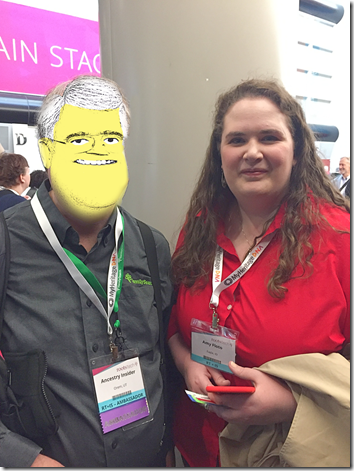 The Ancestry Insider with RootsTech contest winner, Amy Floto