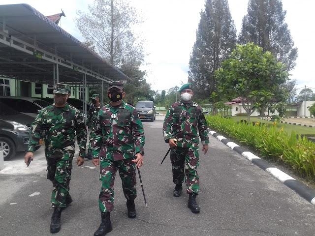 Danrem 022/PT,Kolonel  Palindungan Hutagalung  SAP, Laksanakan Kujungan Kerja Ke Makodim 0207/ Simalungun