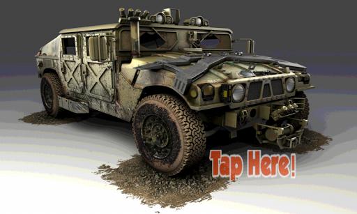 陸軍訓練トラック駐車場の3D