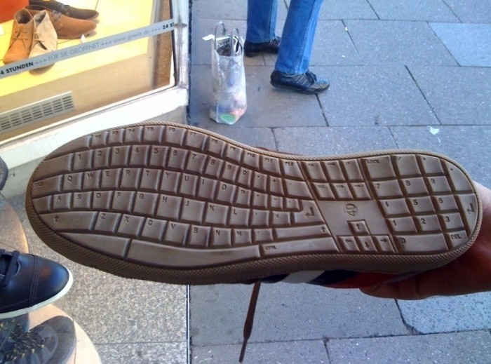 Keyboard Shoe