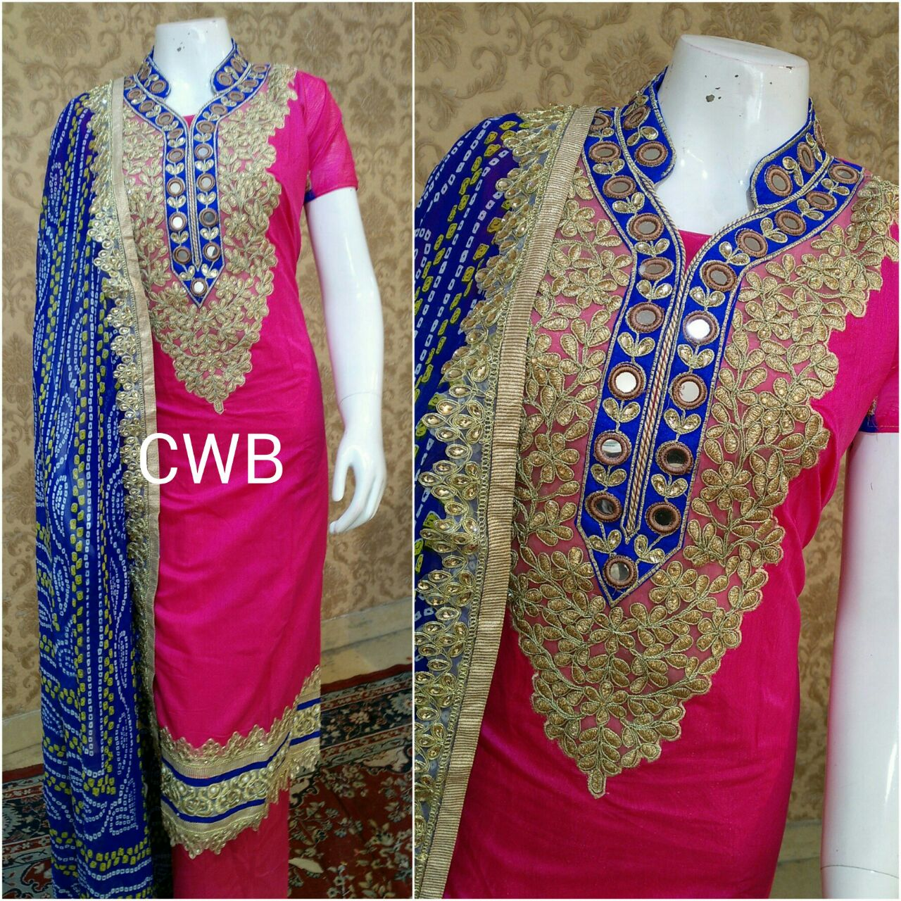 Chanderi Silk Embroidery Designer Suit @ Rs. 2000   Koyal Fashions ...